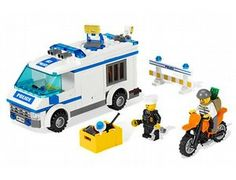 The Prisoner Transport from the Lego City collection - a great selection of Lego construction sets at Wonderland Models.    One of our favourite sets in the Lego City Police range is the Prisoner Transport.    Stop the robber escaping on the motorcycle using the roadblock! Chase him down if he tries to escape on foot. Once the police officer catches the robber, it's time to put him in the back of the van and drive him to jail!