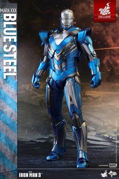 Iron Man 3 - 1/6th scale Blue Steel (Mark XXX) Figure #Marvel