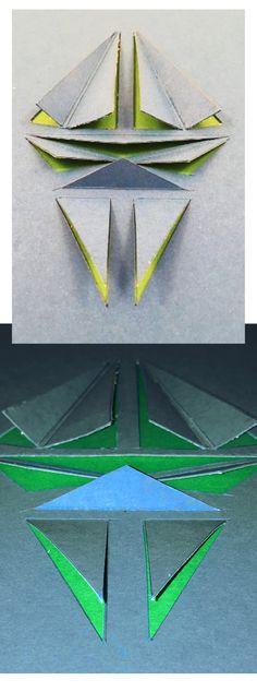 Manninger Zsuzsa, papírstruktúra / Manninger Zsuzsa, paper structures