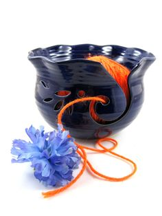 Pottery yarn Bowl, Knitting bowl- made to order