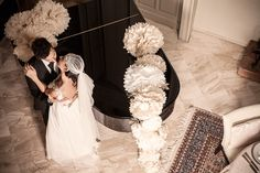 Gallery | Miss Wedding Design, wedding style anni 20, veil swarovski, pom pom