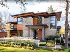 David Small Designs is an award winning custom home design firm. See a portfolio of our Overhang project Country House Design, Modern House Design, Contemporary House Designs, Modern Architecture House, Architecture Design, Landscape Architecture, Dream House Exterior, Facade House, Exterior Design