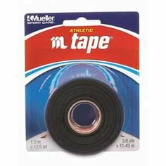 M TAPE BLACK 1 1/2 INCH ROLL by Mueller. Save 38 Off!. $3.21. 100% Cotton, Zinc oxide impregnated trainers tape.  Bleached hospital grade backcloth, hospital grade Mtape features high tensile strength with excellent tackiness and conformability.  Colorfast dyes will not bleed.  Each roll is 1.5 inches by 12.5 yards.