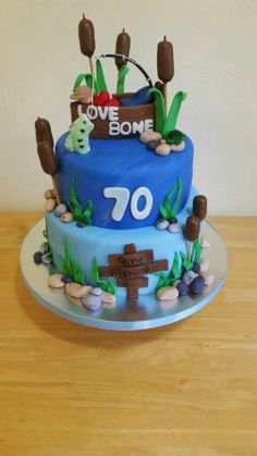 Gone fishing cake from facebook.com/tiersofjoynj