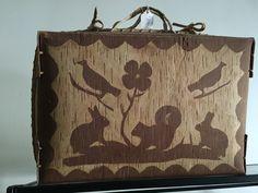 Birch bark suitcase
