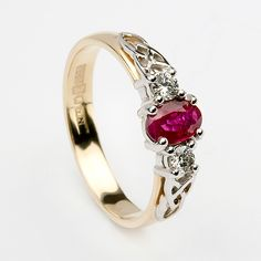 Cerridwen Ruby Engagement Ring (C-386) - Celtic Engagement Rings  When it happens, THIS is the one I want!
