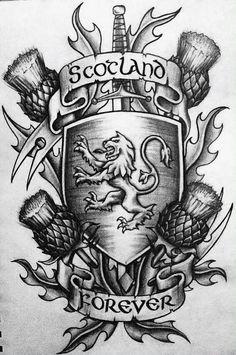 Cool Scottish tattoo design