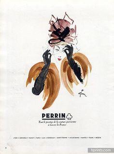 Perrin (Gloves) 1945 René Gruau