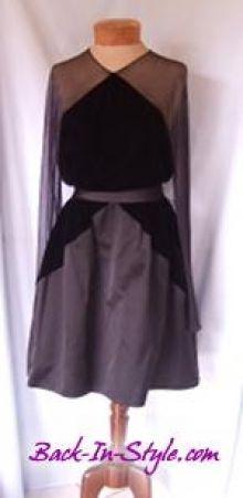 2c3a3cb6b5b Bill Blass Black Velvet   Mesh Cocktail Dress. Vintage PromVintage  DressesBill ...