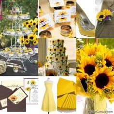 Sunflower Wedding #lenoxweddingcolors