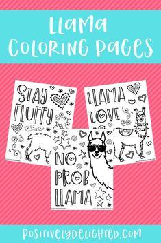 Llama Coloring Pages Thirty One Party, Thirty One Gifts, Printable Coloring Pages, Adult Coloring Pages, Alpacas, Llama Birthday, 2nd Birthday, Birthday Ideas, Llama Decor