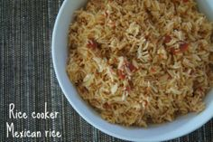 A basic Mexican rice recipe which is super easy to make in a large quantities Made in the rice cooker it means you can make it in advance as well