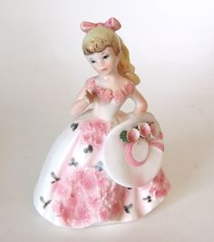 Lefton Little Blonde Girl Figurine with Ponytail by HouseofLucien