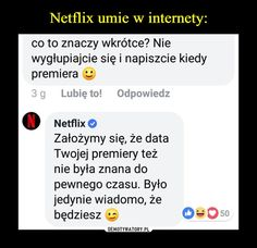 Netflix umie w internety: Funny Mems, Dad Jokes, Best Memes, Cringe, I Laughed, Fun Facts, Netflix, Lol, Quotes