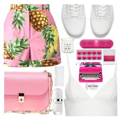 """""""You light up my day"""" by floralandmay ❤ liked on Polyvore featuring Dolce&Gabbana, T By Alexander Wang, Valentino, Vans, Beats by Dr. Dre, Holga, French Connection, Marc Jacobs and shu uemura"""