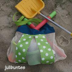 Sommertasche, Strandtasche, Sandtasche, Tasche für Sandspielzeug, Netztasche, Summerbag,