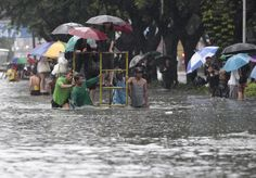 Floods cover more than half of Philippine capital