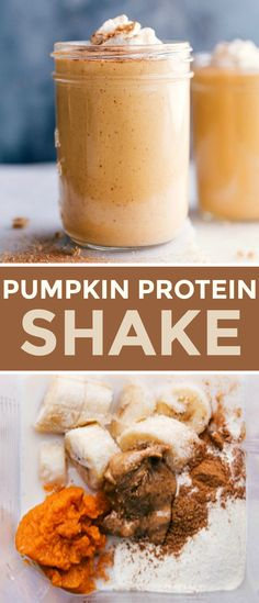 Thick, creamy, and healthy Pumpkin Protein Shake is sure to satisfy your pumpkin pie cravings! This shake is made with good-for-you ingredients and tastes delicious. Pumpkin Shake, Pumpkin Drinks, Healthy Pumpkin Pies, Pumpkin Pie Drink Recipe, Protein Powder Recipes, Protein Shake Recipes, Smoothie Recipes, Arbonne Shake Recipes, Arbonne Protein Shakes