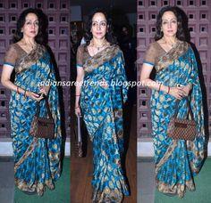 Hema Malini in Designer Blue