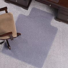 Anchormat High Pile Carpet Beveled Edge Chair Mat