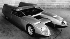 1967 O.S.I. Silver Fox  Built to contend for speed records and race for glory in the 24 Hours of Le Mans. Equipped with a 956-cc Renault Alpine A110 engine positioned vertically behind the passenger seat, and capable of reaching 250km/h at top speed.