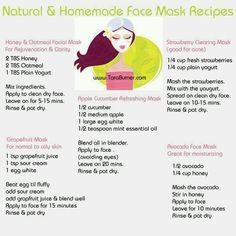 Diy face masks - Facial Mask Tutorials: http://freenaturalskincaretips.info/