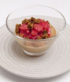 James Mackenzie uses forced rhubarb - a speciality in his native Yorkshire - as a superb accompaniment to liquorice panna cotta.