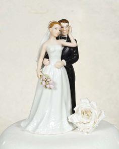 Elegant Rose Wedding Bride and Groom | Wedding Cake Topppers