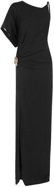 Roberto Cavalli One Shoulder Floral Dress in Black (floral) | Lyst