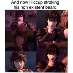 "The ""Hiccup"" pose. He does it way too many times in the TV series, and RTTE."