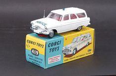 Mettoy Corgi diecast No.419 Ford Zephyr Motorway Patrol 1960-65