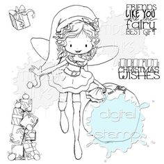 Christmas Fairy | Digital Stamps | Tiddly Inks
