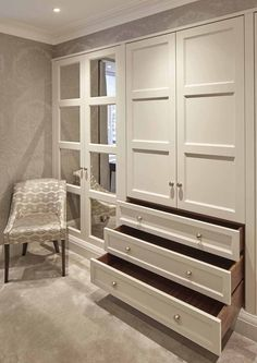 Explore our extensive range of interiors for Bespoke Wardrobes in Surrey & Essex. We create High-End Bespoke Wardrobes in Cheshire & London. Bedroom Built In Wardrobe, Bedroom Built Ins, Bedroom Closet Design, Bedroom Wardrobe, Master Bedroom Closet, Bedroom Storage, Home Decor Bedroom, Wardrobes For Bedrooms, Closet Built Ins