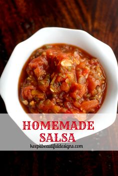 Homemade Salsa Easy and delicious