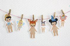 Set 6 stickers Sonny Angel x Disney : Mickey par AtelierAmandine