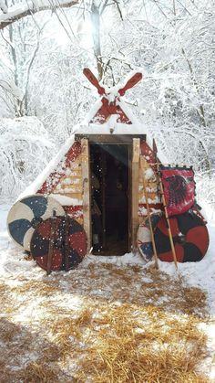 Viking tent's are easily constructed  and strong .
