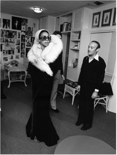 A classic chanteuse, and the 20th century's designer of choice for stage attire : Diahann Carroll and Bob Mackie