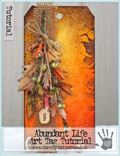 Abundant Life Art Tag Tutorial | www.tammytutterow.com