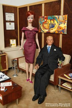 Photographer Modifies Barbie Dolls After 'Mad Men' Characters - DesignTAXI.com