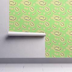 Kiwi pattern coordinate on Isobar by diseniaz Cloth Napkins, Kiwi, Tea Towels, Custom Fabric, Spoonflower, Posters, Wallpaper, Design, Home Decor