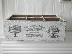 Shabby Vintage Holzkiste CONFISERIE weiss von homestyle-accessoires via dawanda.com