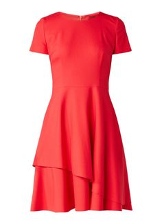 9ebc925800a HUGO BOSS Kayna A-lijn jurk met lagen • de Bijenkorf