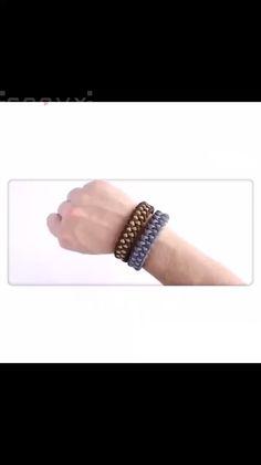 Diy Friendship Bracelets Patterns, Diy Bracelets Easy, Bracelet Crafts, Braided Bracelets, Jewelry Crafts, Diy Leather Bracelet, Leather Cuffs, Armband Diy, Jewelry Knots