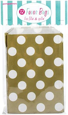Party Partners 12 Count Paper Favor Bag, Gold Dots Party Partners http://www.amazon.com/dp/B00V2XKYSC/ref=cm_sw_r_pi_dp_21Npvb1YZ5Y6N