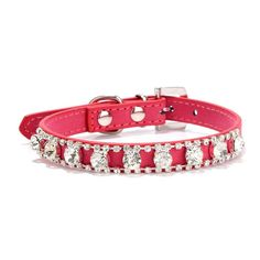 365mx® Free shipping top quality soft comfortable suede dog collar with shiny rhinestone diamond cat accessories walking outdoor *** Save this wonderfull item : Cat Cages, Carrier and Strollers