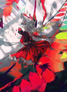 Flandre Scarlet - Touhou Project fanart by mns #Touhou Project