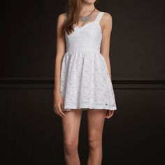 Hollister Navy Blue Lace Dress