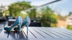 The Embellished Blues Champagne Shoes, Pastel Shoes, Western Shoes, Princess Shoes, Killer Heels, Stiletto Shoes, Blue Heels, Wedding Heels, Jimmy Choo Shoes