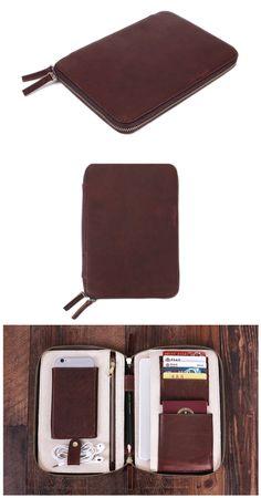 Leather Travel Wallet, Passport Holder - Groomsmen Gift