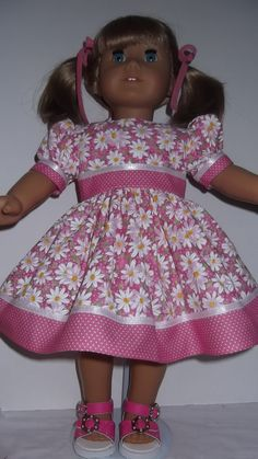 American Girl Doll Clothes  Pink Daisy Spring by susiestitchit, $16.00